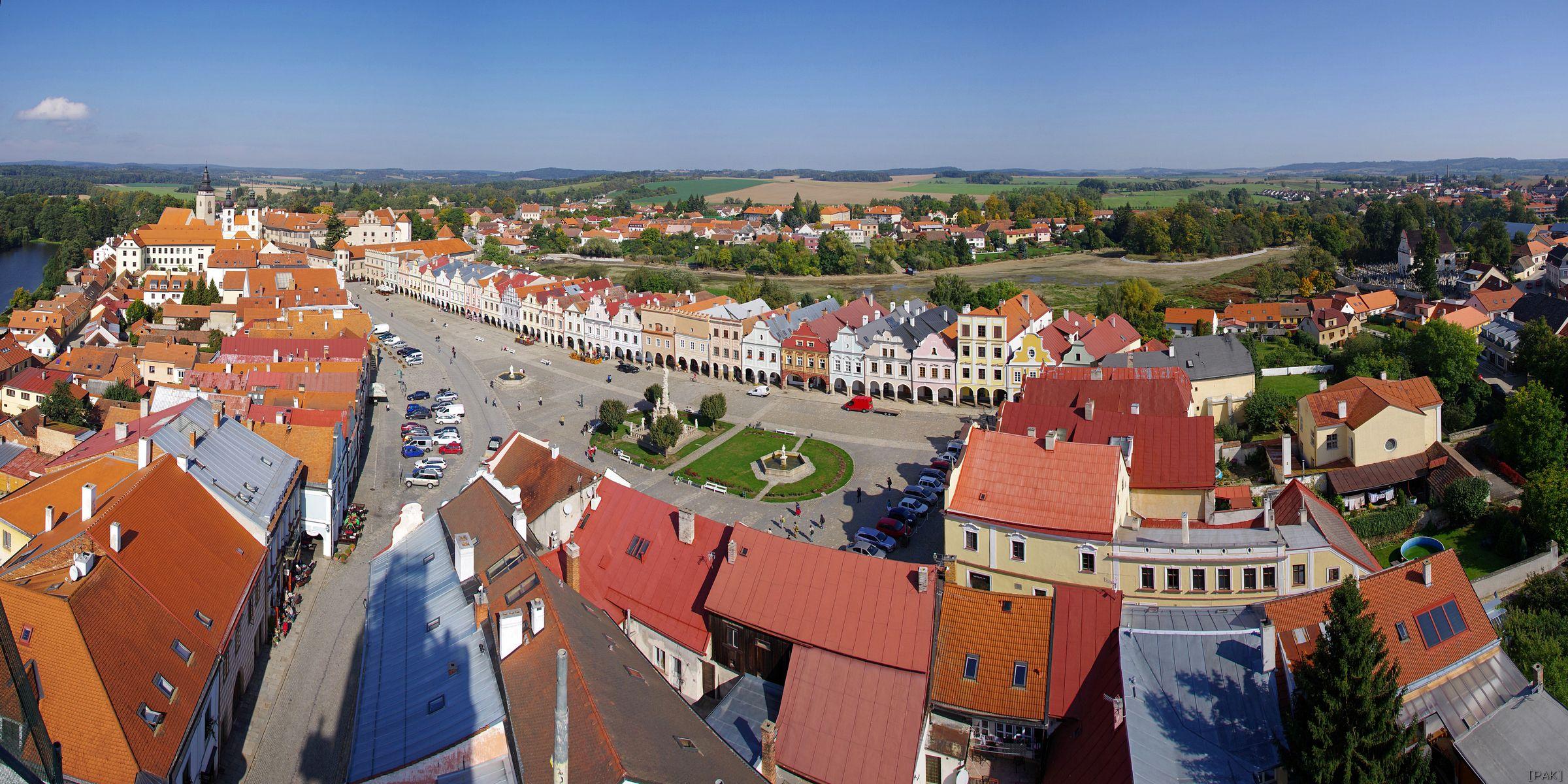 Panorama města Telč