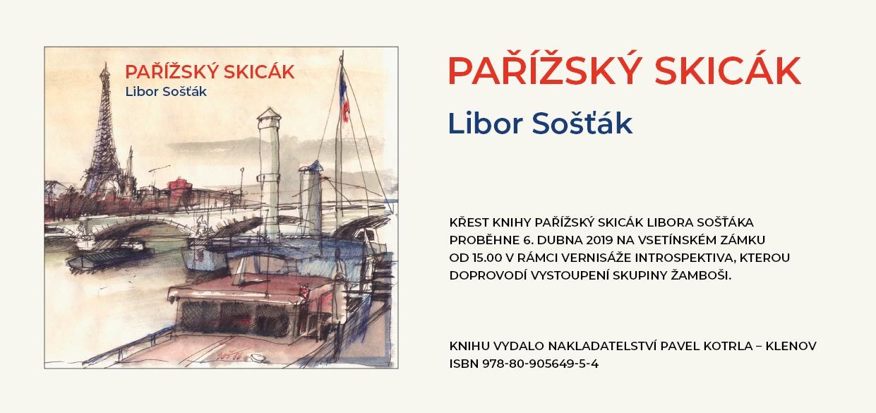 Křest knihy Pařížský skicák Libora Sošťáka