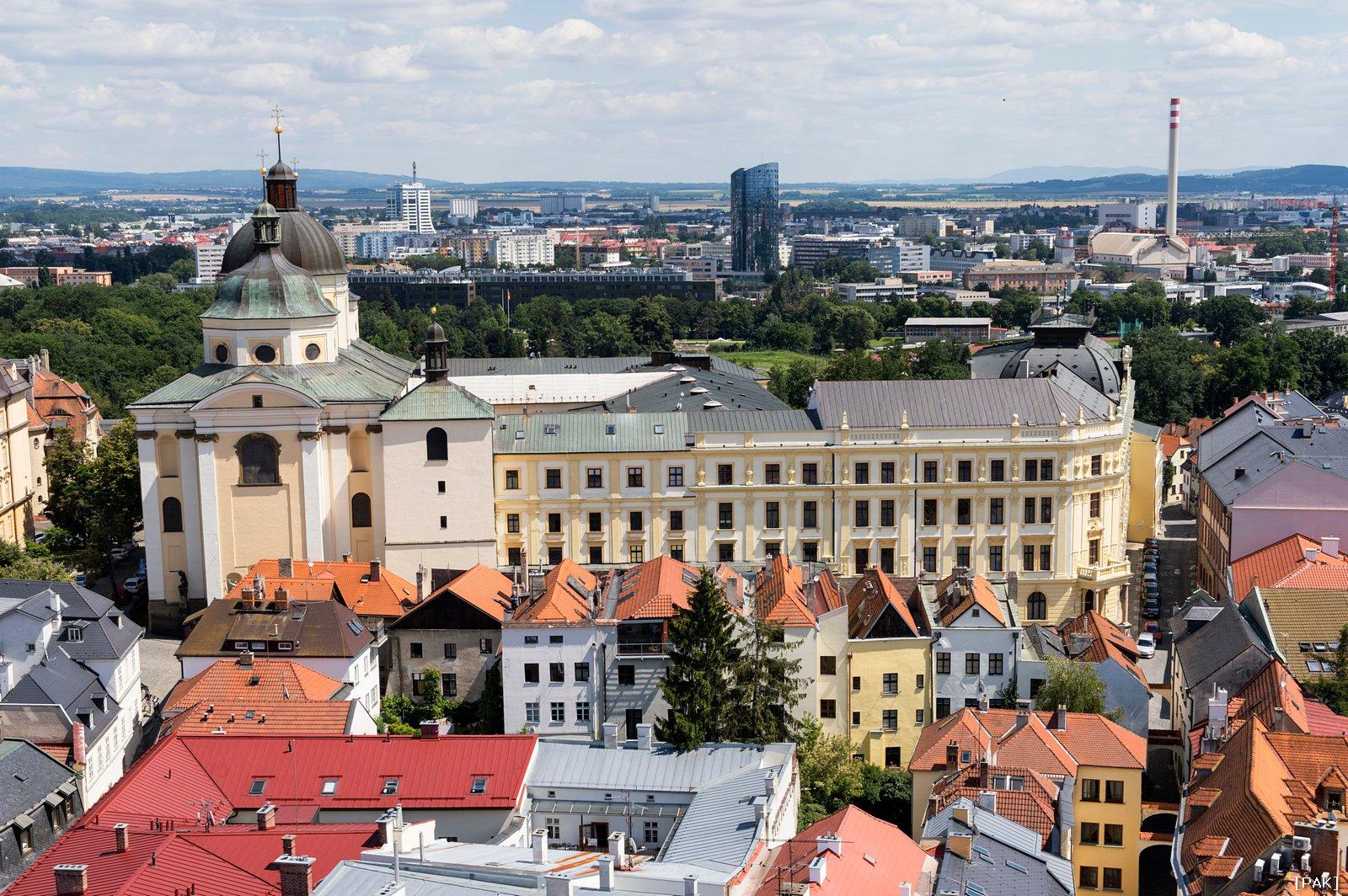 Olomouc - panorama - Arcibiskubský kněžský seminář